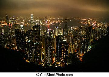 Vista aérea de Hong Kong, China, Asia