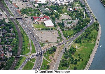 Vista aérea de la autopista