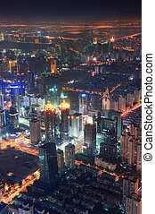 Vista aérea de Shangai