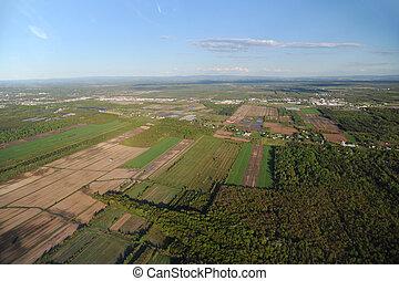 Vista aérea del área de la ciudad de Quebec