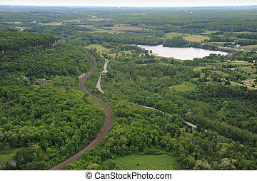 Vista aérea del sur de Ontario