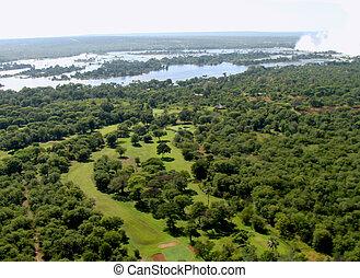vista, aéreo, zambezi