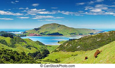 Vista costera, nueva Zealandia