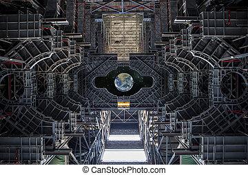 Vista de la Tierra desde una nave espacial. Elementos de esta imagen provista por la NASA.