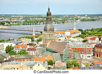 Vista de la vieja riga, Letonia
