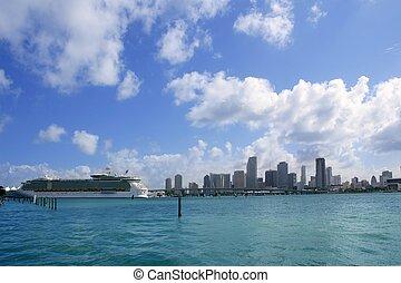 Vista de Miami Beach desde el centro
