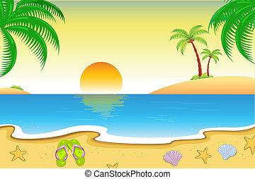 Vista de playa natural