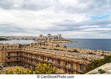 Vista de Valletta Cityscape