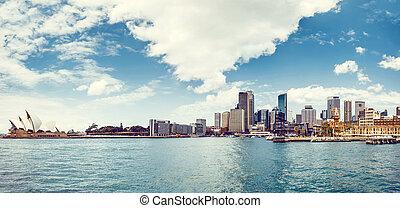 Vista del puerto de Sydney