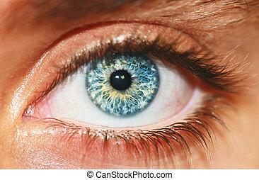 Vista Macro del ojo humano