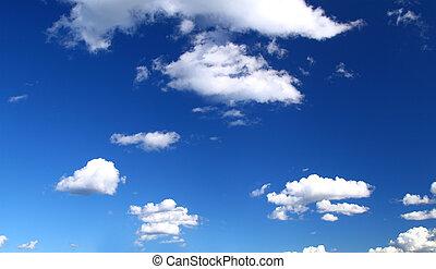 vista panorámica, cielo, verano