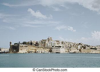 Vista panorámica de Valletta, malta
