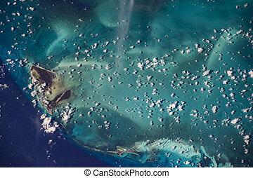Vista terrestre desde el espacio. Elementos de esta imagen provista por la NASA