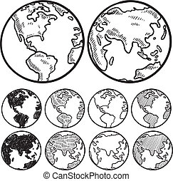 Vistas del bosquejo terrestre