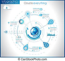 visualización, infographic, datos, plantilla, estadística