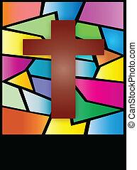 Vitrina de cristal de cruz