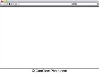 Vitrina de Internet en blanco, ilustración de plantillas