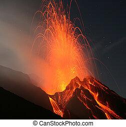 volcán, stromboli