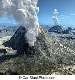 volcánico, erupciones