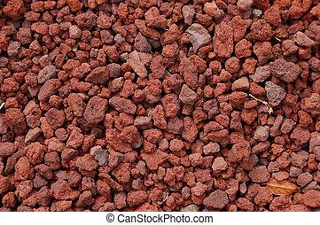 volcánico, rojo, textura, roca