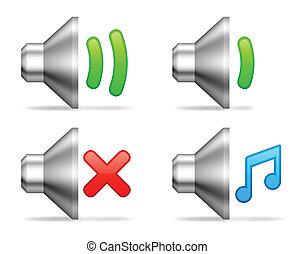 volumen, audio, icons.
