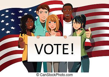 votación, gente