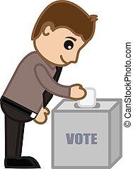 votación, joven
