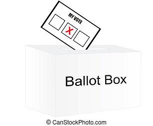 Votar el día de las elecciones...