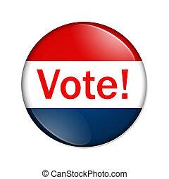 voto, botón