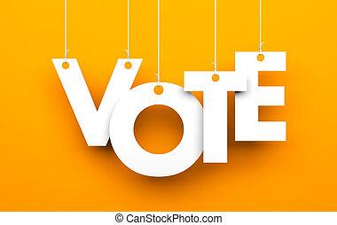 voto, metaphor., cartas, cuerdas