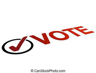 voto, perspectiva, señal