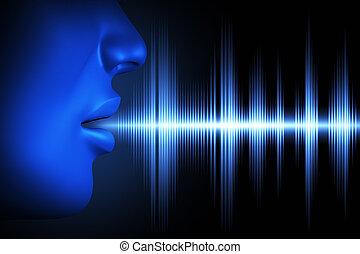 voz, onda acústica