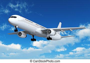 vuelo pasajero, airliner
