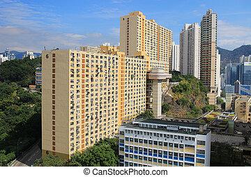 wan, kwai, distrito, tsuen, fong, hk, vista