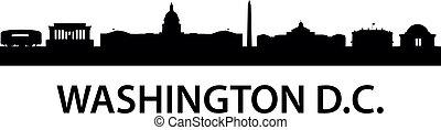 washington, contorno, c.c