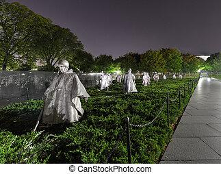 washington, coreano, monumento conmemorativo, guerra, cc
