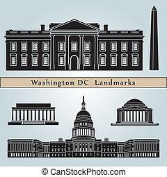 Washington DC marca y monumentos