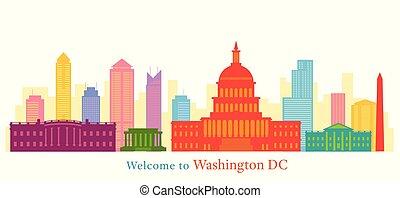 Washington DC, monumentos, rascacielos y rascacielos