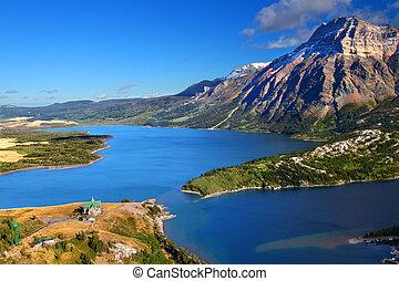 waterton, parque nacional, lagos