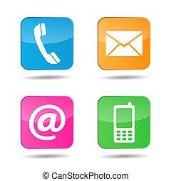 Web contacta con nosotros iconos