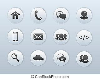 Web, iconos de comunicación