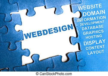 webdesign, rompecabezas