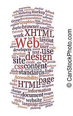 Website diseño de la palabra nube