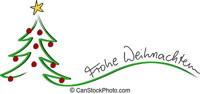 weihnachten, navidad, tarjeta, frohe