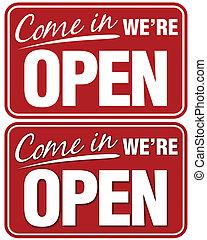 we're, abierto, venga
