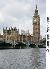 westminster, big ben, puente