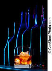 Whisky en el bar