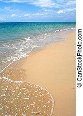 Whitewash en la playa caribbean tropical