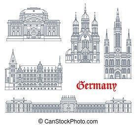 wiesbaden, alemán, alemania, señales, arquitectura
