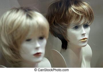 Wigs en exhibición